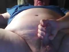 Grandpa strok and cum in cam