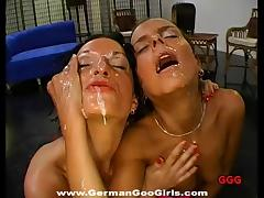 Sperm whores suck and slobber on dicks and get facials