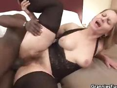 Hot Granny Interracial Sex