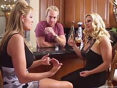 Thrilling blondes love when the cock is there just for them!