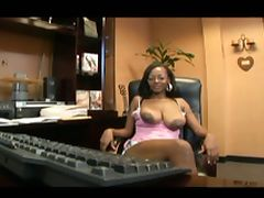Big breasted secratary loves to fuck at the office