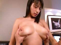 Guys love the big natural tits of this Japanese hottie