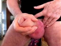 Shake my pumped cock and balls with cumming