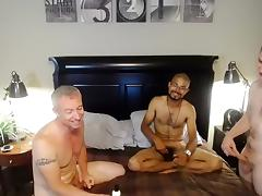 Hot boy is jerking off in the apartment and filming himself on computer webcam