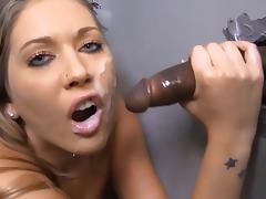 BBC Worship through Gloryhole (Huge Facial)