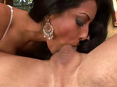 Busty brunette in black lingerie gets warm cumload on her tits