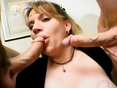 Busty slut blowjob