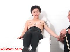 Bizarre asian medical bdsm and oriental Mei Maras extreme doctor fetish of play piercing and facial humiliation