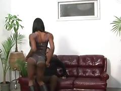 Slim black Tgirl gets her dick sucked