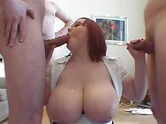 Bukkake, BBW, Bukkake, Tits