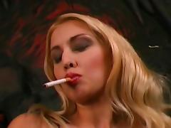 Smoking in stockings