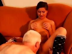 Old hairy anal first time Latoya makes clothes, but she like