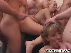 Blonde senoritas enjoying being splattered with man-juice