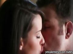 Brunette pornstar Sally Charles erogenous lovemaking habit