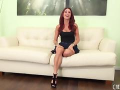 Milf Monique Alexander masturbates in sexy high heels