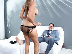 Perfect Latina babe in sexy lingerie fucking her hunky boyfriend