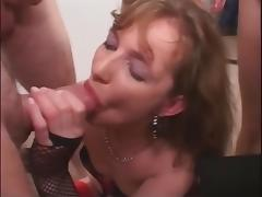 Nasty slut swallowing loads of cum