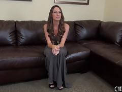 Solo Kortney Kane looks amazing lubed up for masturbation