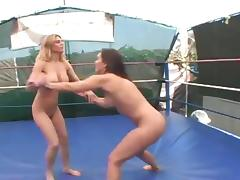 Big Boobs vs Small Wrestling Himiliation