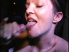 Austrian cumslut sucks a bunch of dicks