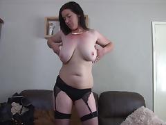 Mom dressed up like a slut to arouse you as she masturbates