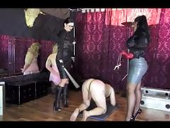 Two Satin Mistresses cane their slave