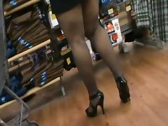 Shop, Cuckold, Flashing, Fucking, Husband, Mature