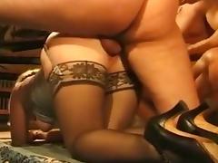 Mature anal stockings