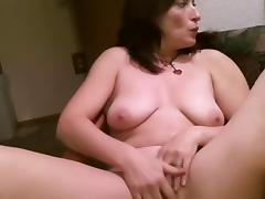 I'm caressing my body in mature homemade porn