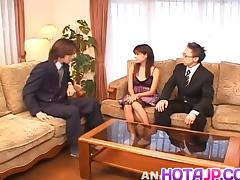 Itsuka has hairy crack licked, fingered and fucked with dong