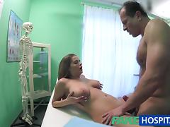 FakeHospital Big tits babe has a back problem