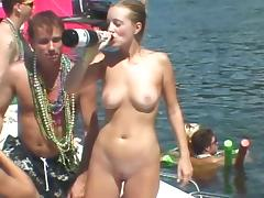 Spring Break, Amateur, Big Tits, Bikini, Blonde, Lesbian