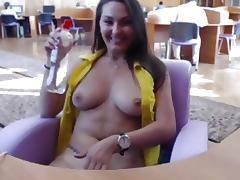 Amatuer big tits vid with me masturbating in public