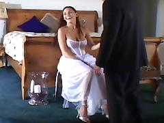 Married, Anal, Bride, Brunette, Cute, Fucking