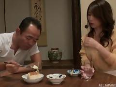 Perky tits are so sexy on this masturbating Japanese babe