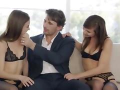 Gorgeous girls get anal