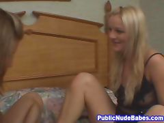 Hot Lesbo Babes Public Pickup