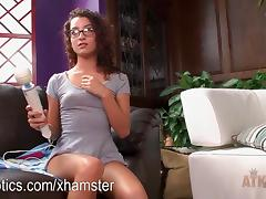 Lana Lovelace vibrating her wet clit