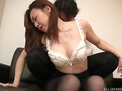 It's time for her Japanese beaver to feel the doggy drilling