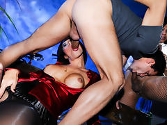 Rosy, Samantha F in Big Titty Transsexuals #11