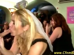 CFNM stripper gets sucked at bachelorette party