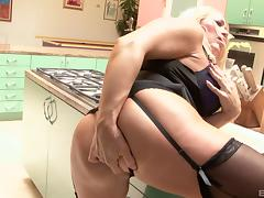 Curvy mature housewife dressed in lingerie for her BBC lover