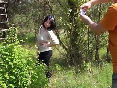 Teen titty fucking in the field