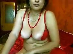 Mature slag Irida1 masturbates for the camera