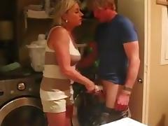 Caught sniffing janets cunt-stained panties