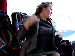 Bus, Amateur, Anal, Bus, Fingering, Flashing
