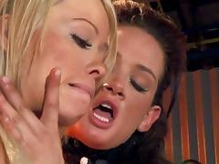 Angelina Valentine serves a toy dick doggystyle throbbing lesbian scene