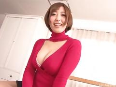 Her big round Asian titties are great in a POV sex scene