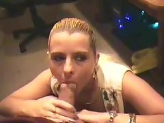 Big cock erupts in wife mouth