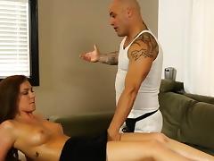 Brunettes pussy massaged